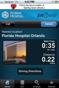 Florida Hospital Emergency Room Wait Times