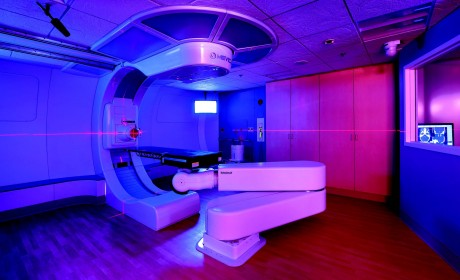 The Mevion system at Orlando Health's Marjorie and Leonard Williams Center for Proton Therapy.